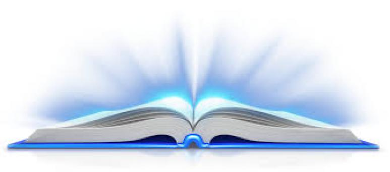 uppslagen bok